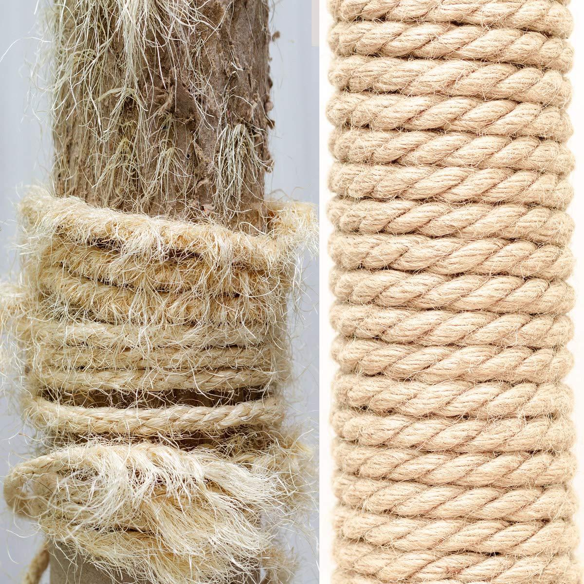 Seilwerk STANKE Cuerda de sisal rizada 25 m 10 mm Fibras naturales Cuerda natural Aparejo Rascador para gato: Amazon.es: Bricolaje y herramientas