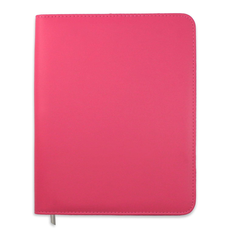 Copertina per agenda A5 Essentials Boxclever Press, in eco pelle di alta qualità con cerniera tutta intorno e tasche extra per aiutarti ad organizzarti [BLU]