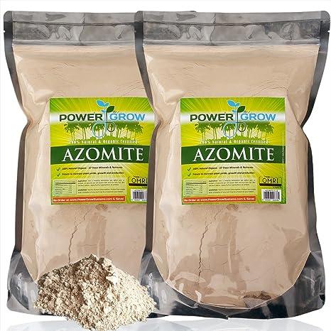 Azomite – 10 libras Bulk bolsa de Trace Mineral fertilizantes orgánico certificado por powergrow