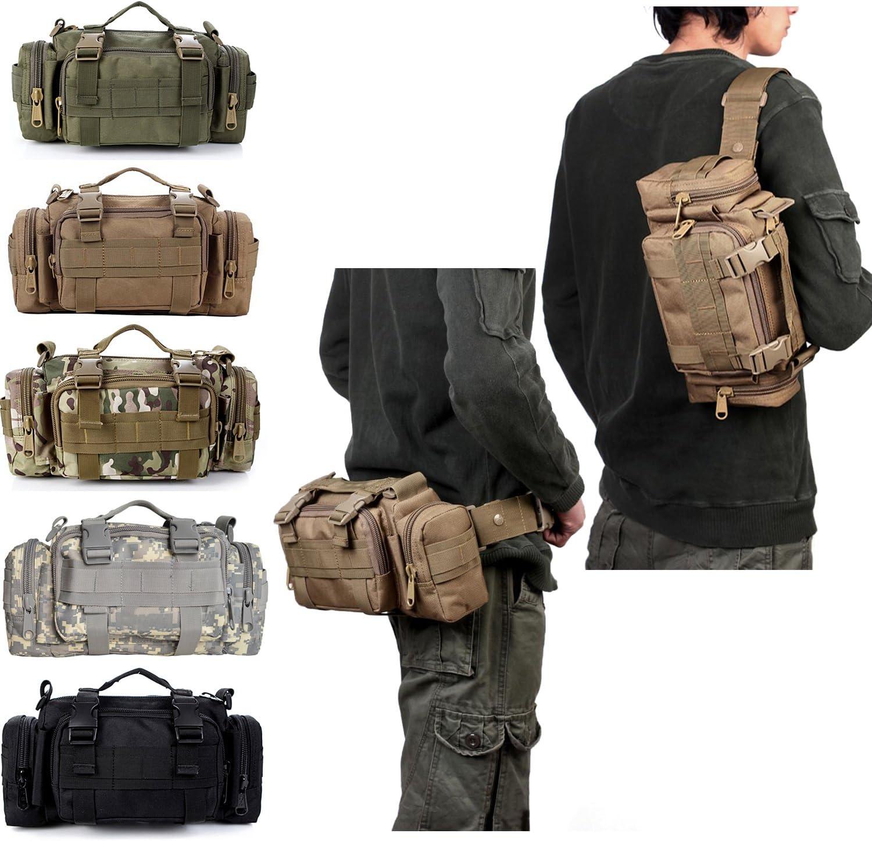 Contever/® Multifonctionnel Sac d/épaule Sac /à Bandouli/ère Sac de Cam/éra appareil photo pour Wargame Voyager Randonn/ée Trekking Camping ACU