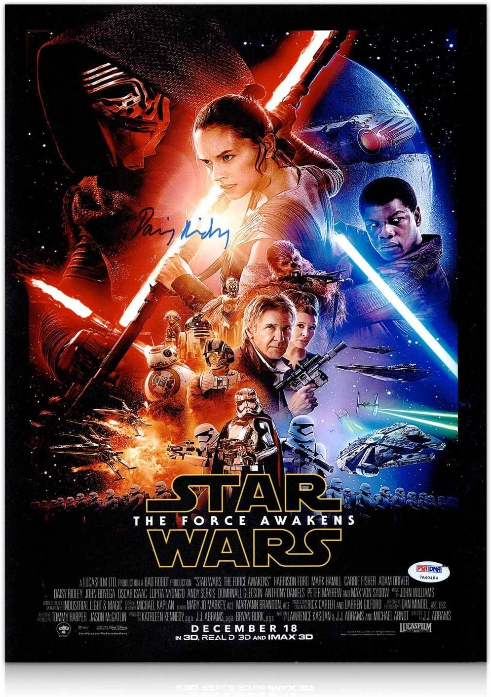 Star Wars The Force despierta Cartel: Firmado por Daisy Ridley ...