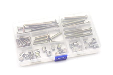 M6 Baby Crib Hardware Replacement Kit Cseao 50pcs Socket Cap Bolts