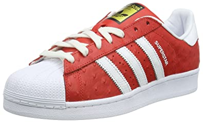 adidas Superstar Animal, Chaussures de Skateboard Homme, Rouge (Red/FTWR White/