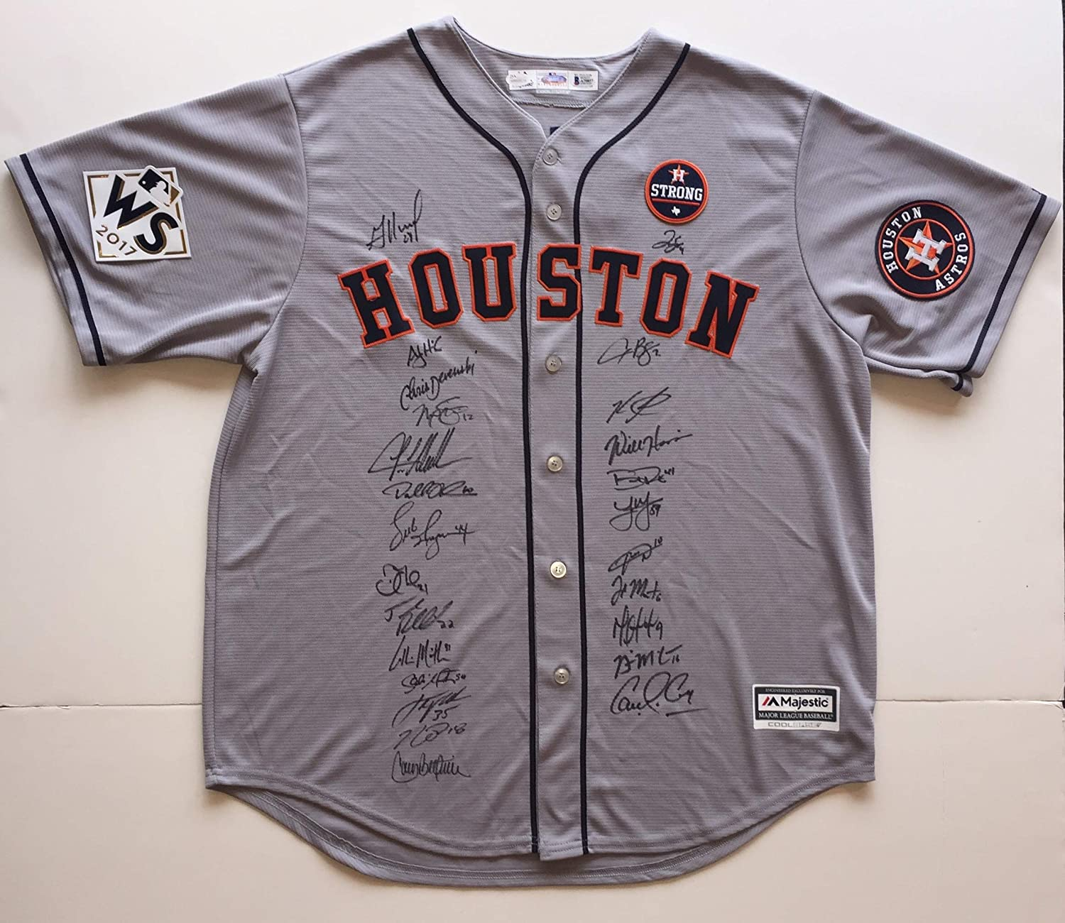 Houston Astros 2017 World Series Champion Team Autographed Jersey. Signed  at paid private Autograph Sessions. Signed by 25. BAS JSA Coa s at Amazon s  Sports ... 1caf07edd
