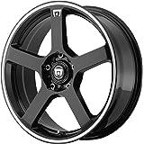 "Motegi Racing MR116 Gloss Black Wheel With Machined Flange (17x7""/5x100, 114.3mm, +40mm offset)"