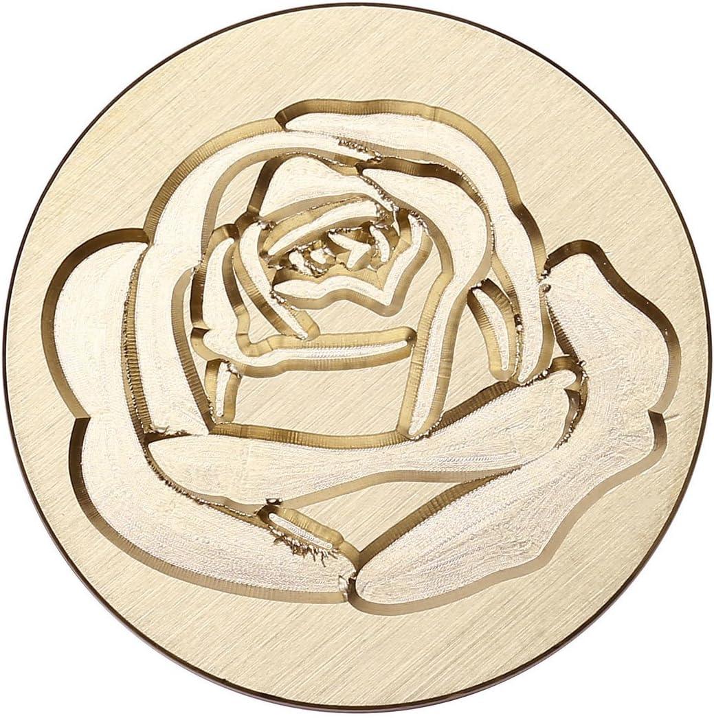 Mornajina Antike Siegelwachs Stempel Retro Brief Dichtungs Wachs Holzgriff Siegelstempel mit verschiedene Muster