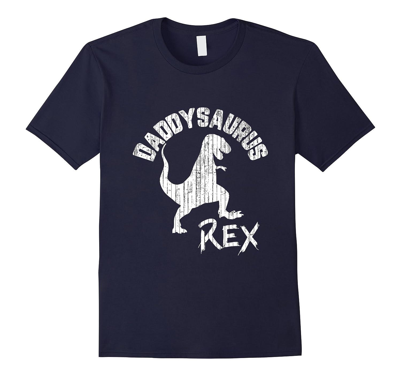Daddysaurus Rex Cute Dinosaur Fun Fathers Day Gift T-Shirt-Vaci