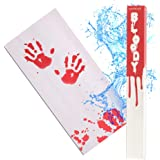 IntroWizard Bleeding Paper - Bloody Halloween Decor for Party, Horror Movie Gifts, Color Change Magic with 2 Sheets That Turn