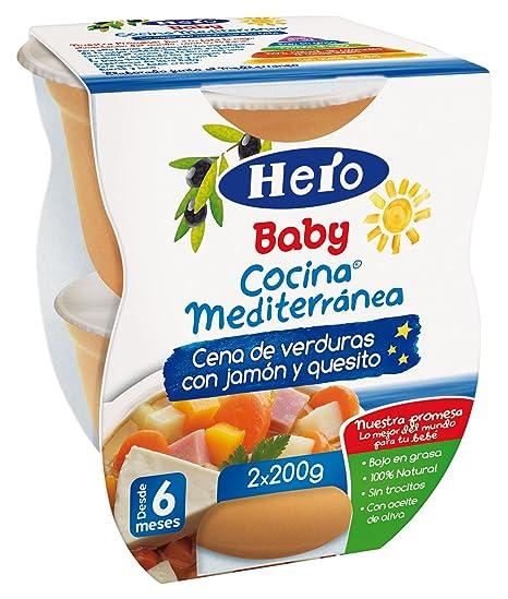 Hero Baby - Cocina Mediterránea Cena De Verduras Con Jamón Y Quesito
