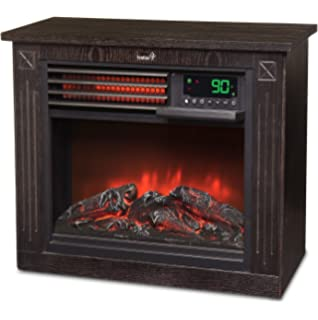 Amazon.com: Lifesmart Large Room Infrared Quartz Fireplace in ...