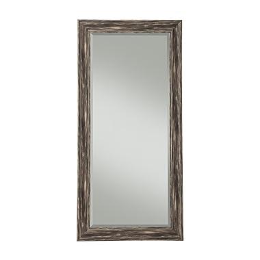 Sandberg Furniture Antique Black Farmhouse Full Length Leaner Mirror