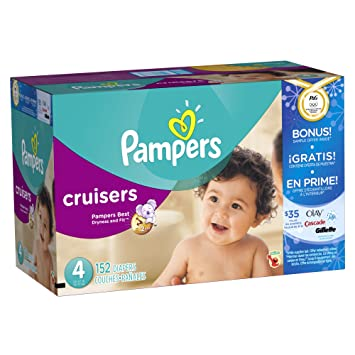Pampers Cruisers Size 4 Olympics 152 Count