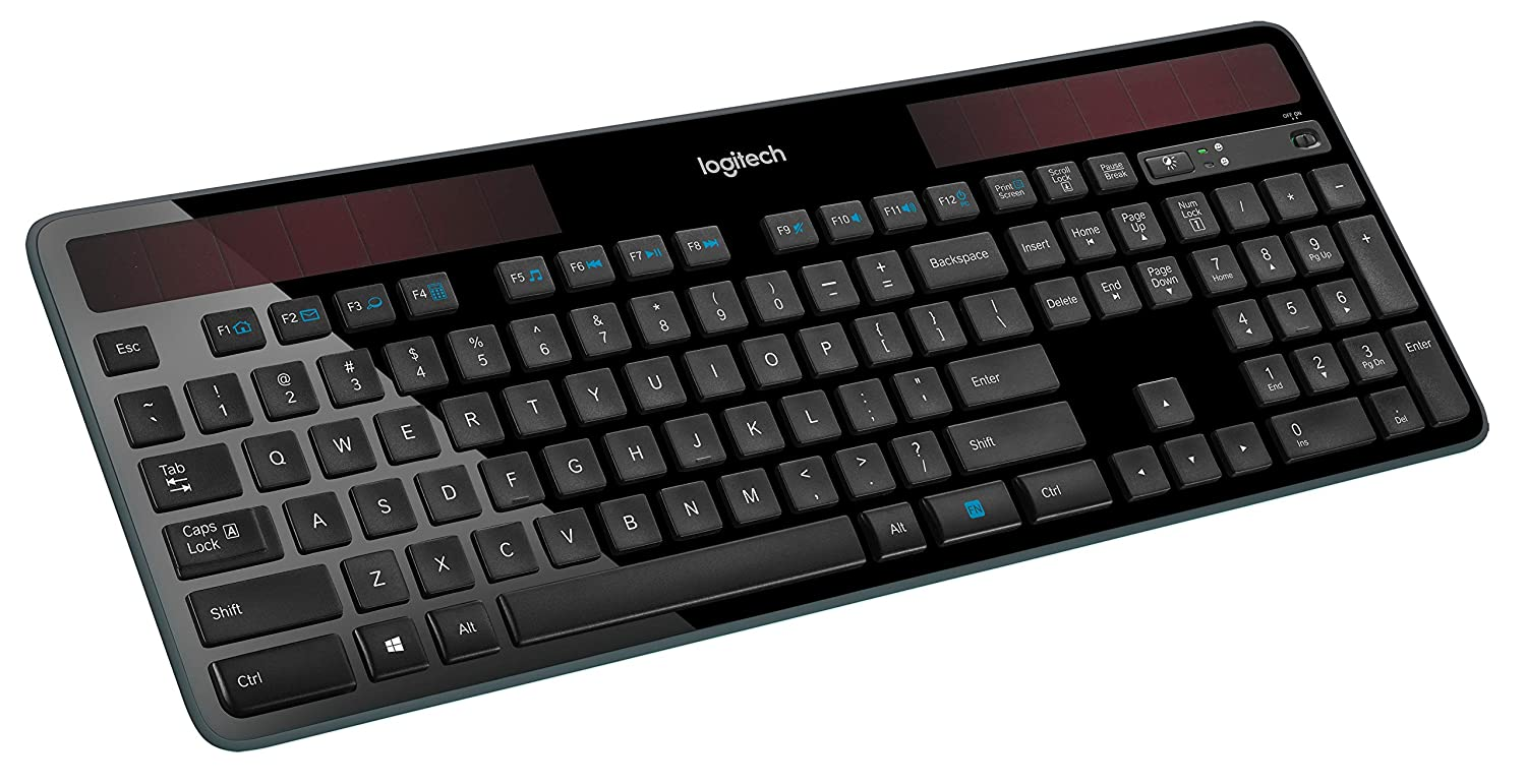 Solar-powered keyboard from logitech