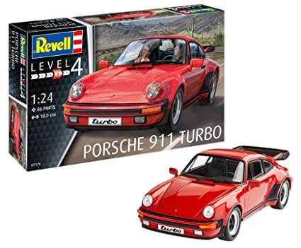 Revell Maqueta Porsche 911 Turbo, Kit Modelo, Escala 1:24 (07179)
