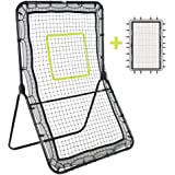 Victorem Lacrosse Rebounder - Bounce Back, Pitch Back Rebounder for Lacrosse, Baseball and Softball Training with Extra…