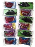 Wack-O-Wax Lips, Fangs & Mustaches Variety Set [4 of each type]