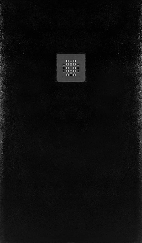 70X180 LARGO HASTA 200 CMS. PLATO DUCHA RESINA EFECTO PIZARRA ANTIDESLIZANTE NEGRO RAL 9005 ANCHO 70 CMS