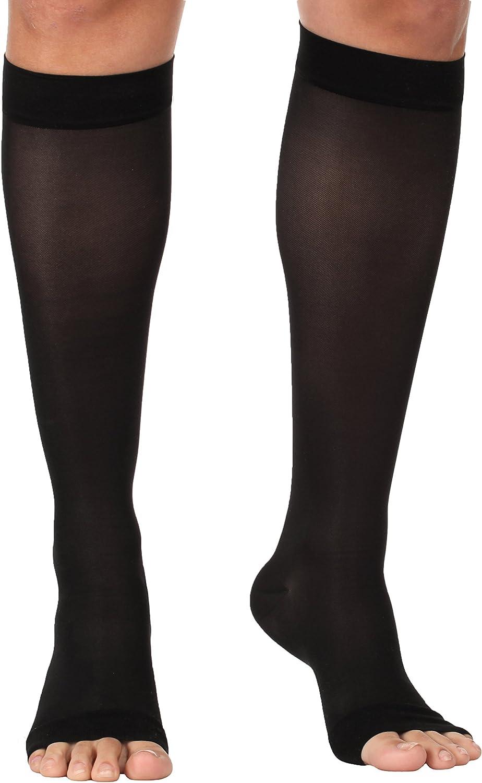 36 pr High Quality Fashion Sheer Knee Highs NEW 3 pr box: nude//black//nude