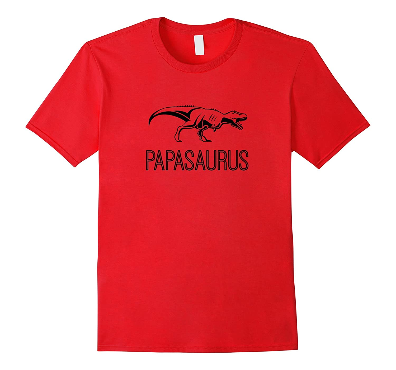 Mens Papasaurus T-Shirt - Great Fathers Day Gift Tee-RT