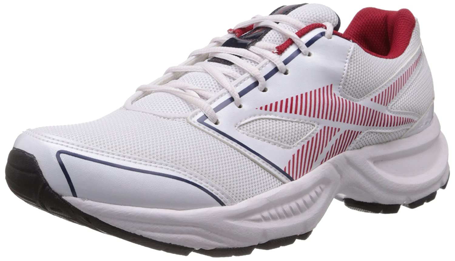 7f46fd490ab5f2 Reebok Men s White and Red Mesh Running Shoes (V59618) - 10 UK  Buy Online  at Low Prices in India - Amazon.in