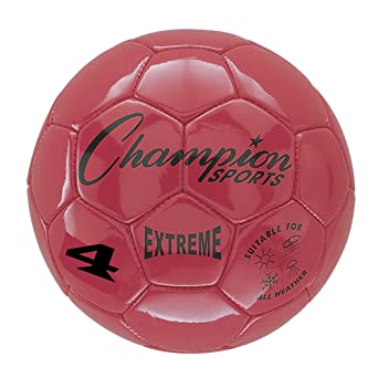 Champion Sports Extreme - Balón de fútbol, talla 4, Red, 1: Amazon ...