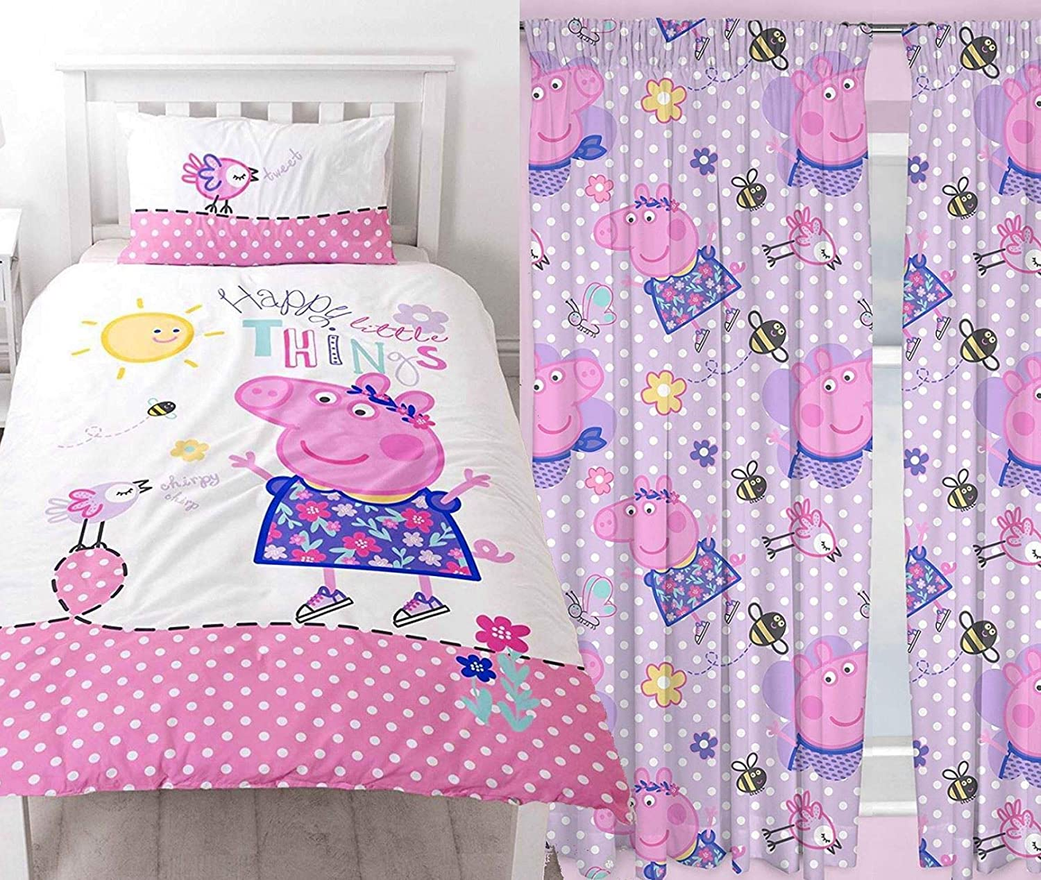 Peppa Pig Happy Single Duvet & 72