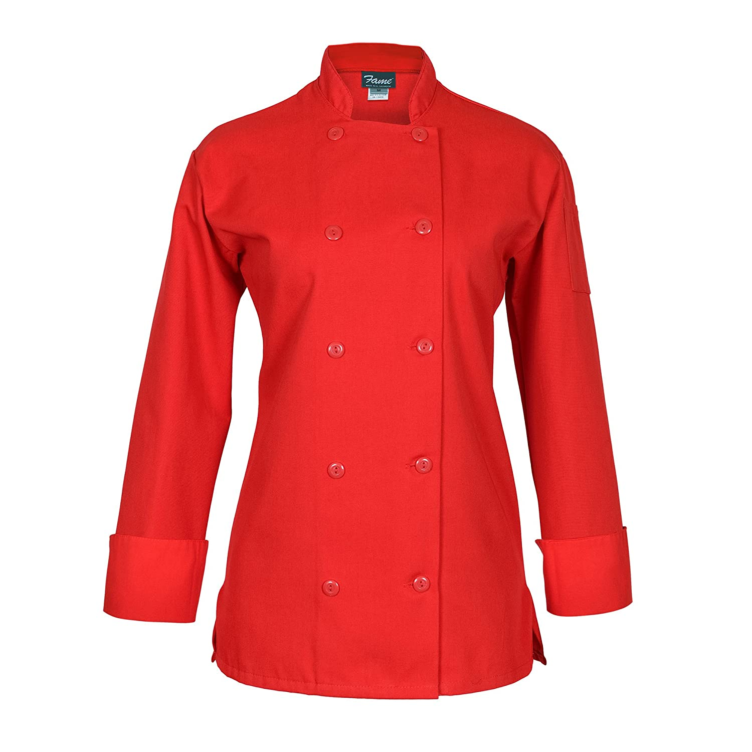 Fame Women's Long Sleeve Chef Coat