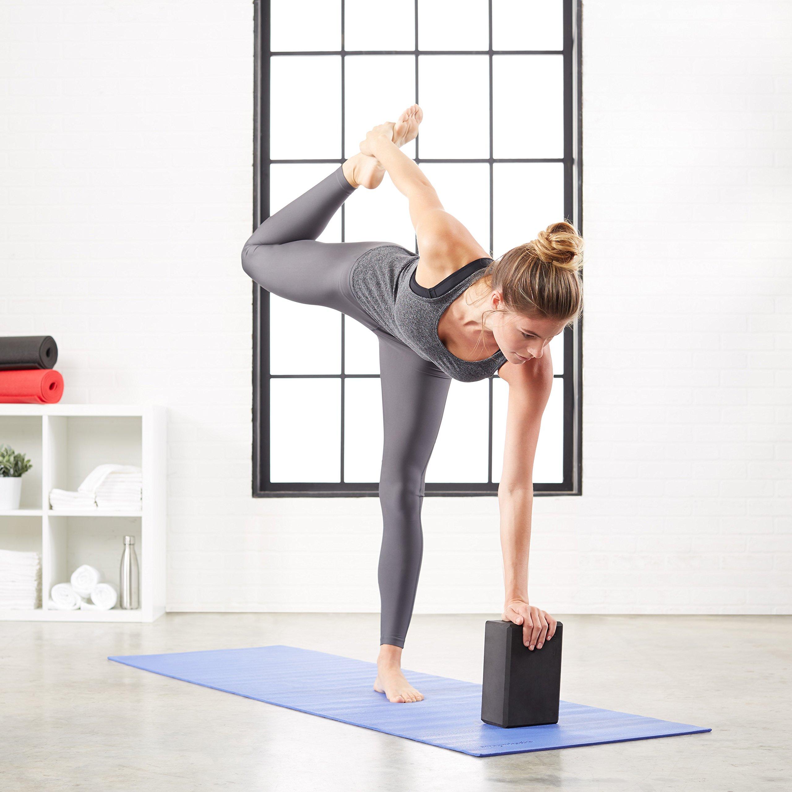 AmazonBasics Foam Yoga Blocks - 4 x 9 x 6 Inches, Set of 2, Black by AmazonBasics (Image #3)