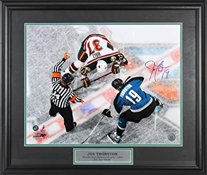 5f537b91e Signed Joe Thornton Picture - 16x20 Framed COA - Steiner Sports Certified - Autographed  NHL Photos