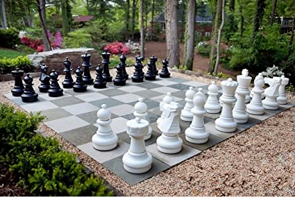 Ordinaire MegaChess Giant Premium Chess Pieces Complete Set With 25 Inch Tall King    Black And White