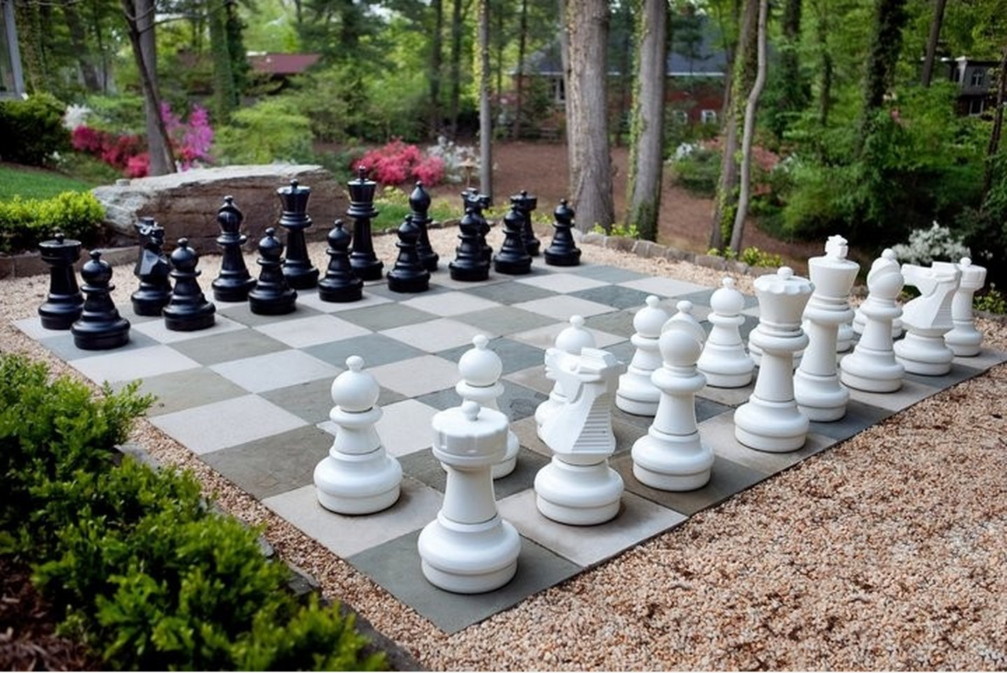 MegaChess Giant Premium Chess Pieces Complete Set with 25 Inch Tall King - Black and White by MegaChess