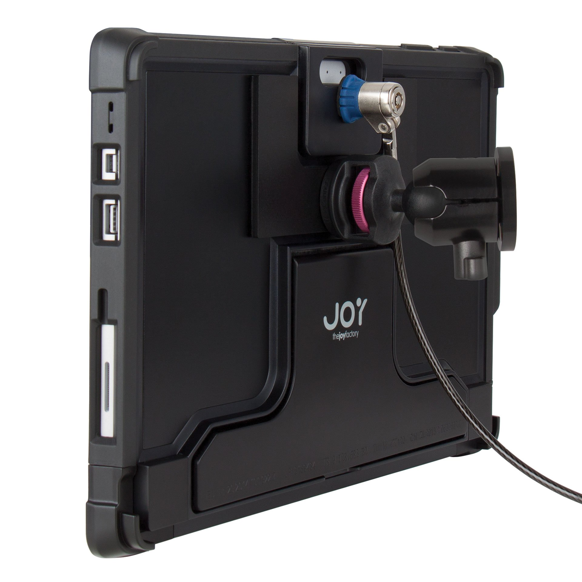 The Joy Factory MagConnect On-Wall Mount w/ Lockdown Secure Holder w/ Cable Lock for Surface Pro and Pro 4 (MLM115)