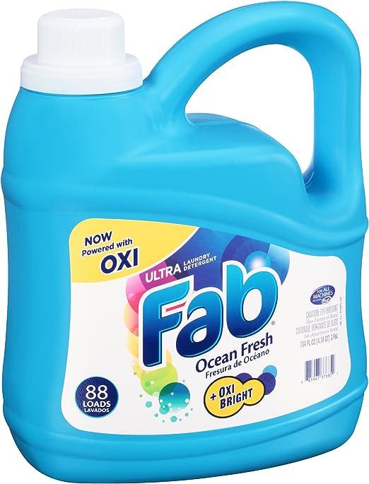 Fab Ocean Fresh detergente líquido (134oz): Amazon.es: Hogar