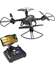 Holy Stone HS200D Drone with HD Camera Live Video RC Quadcopter -720P 120°Wide-Angle WIFI Camera for Adults Easy for Kids Beginners Gift Airplane with Altitude Hold Headless Mode 3D Flips Modular Battery