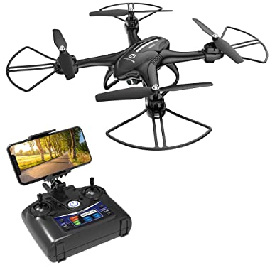 Holy Stone HS200D FPV RC Drone with 720P Camera 120°FOV Live Video WiFi Quadcopter for Beginners and Kids RTF RC Helicopter with Altitude Hold 3D Flips Color Black