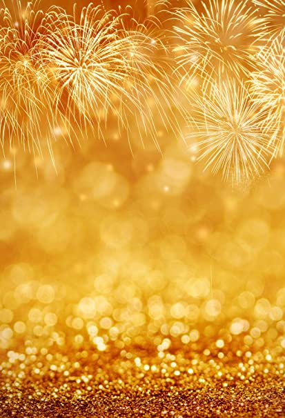 happy new year photography backdrops for shooting golden fireworks background glitter photo booth 65x10ft