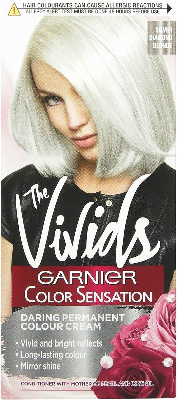 Garnier Color Sensation Vivids Diamond Blonde - Tinte permanente para el pelo, número S9, color plateado