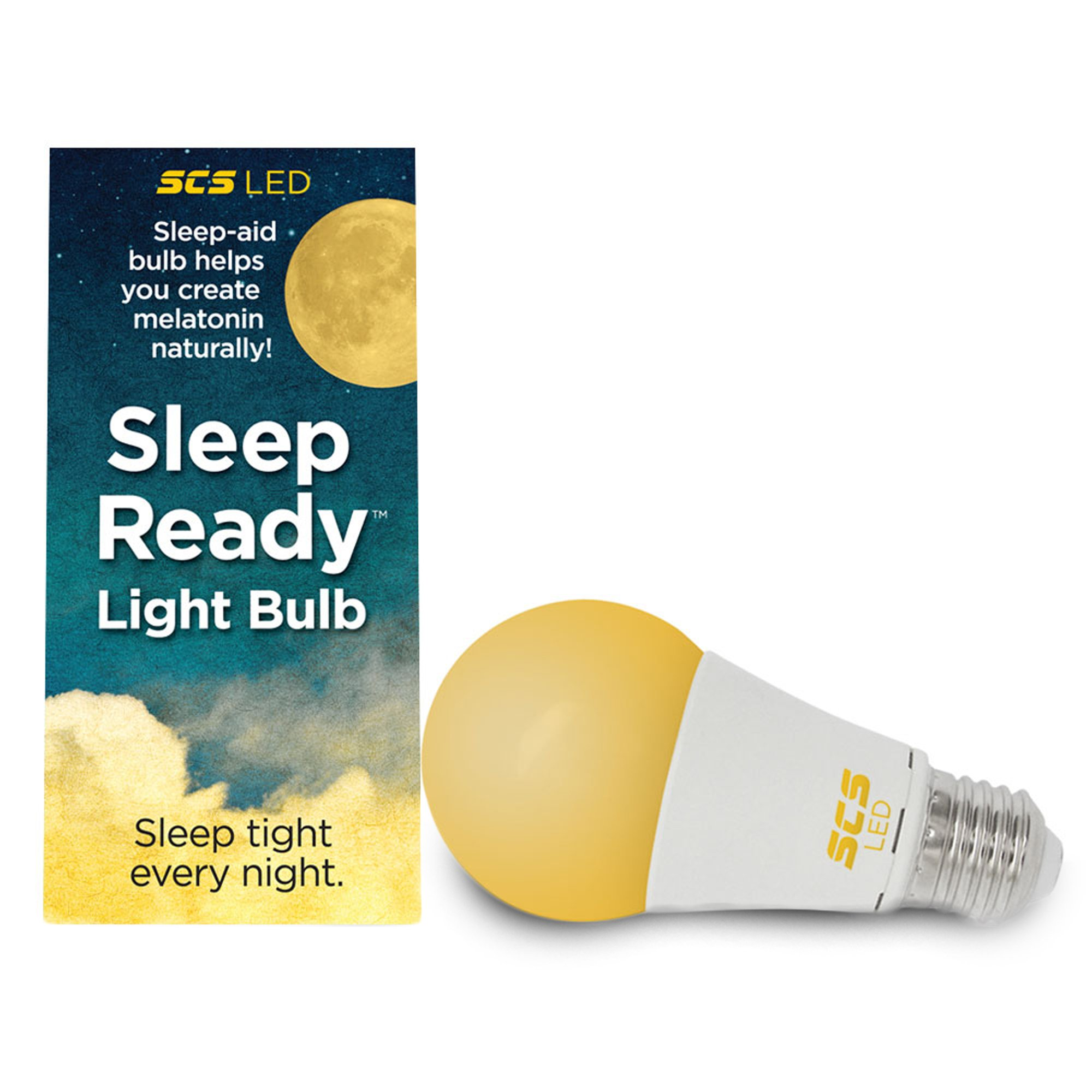 Sleep-Ready Light. Sleep Better, Naturally! 7 watt LED AMBER Bulb. Supports healthy sleep patterns, Promotes Natural Melatonin Production with Ambient Low Blue Night Light.