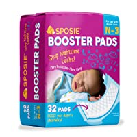 Sposie Overnight Baby Diaper Booster Pads/ Doublers for Newborns to Size 3 Diapers...