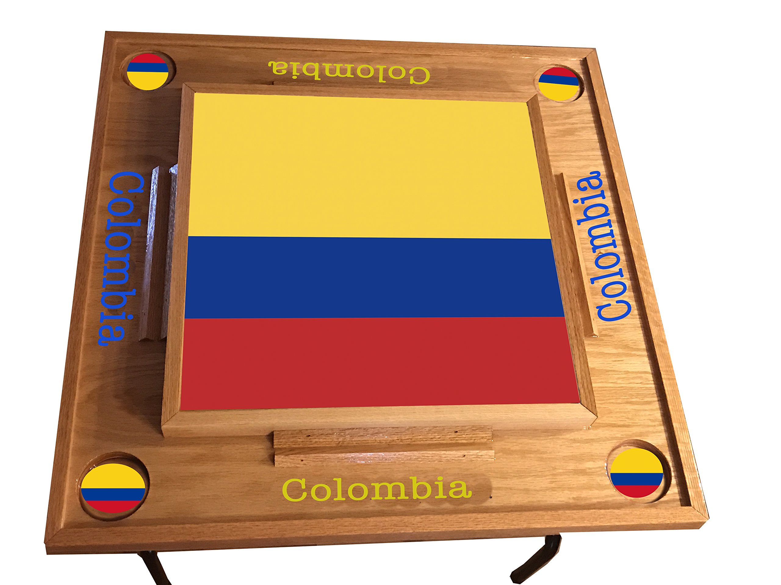 Colombia full Falg Domino Table (Natural)