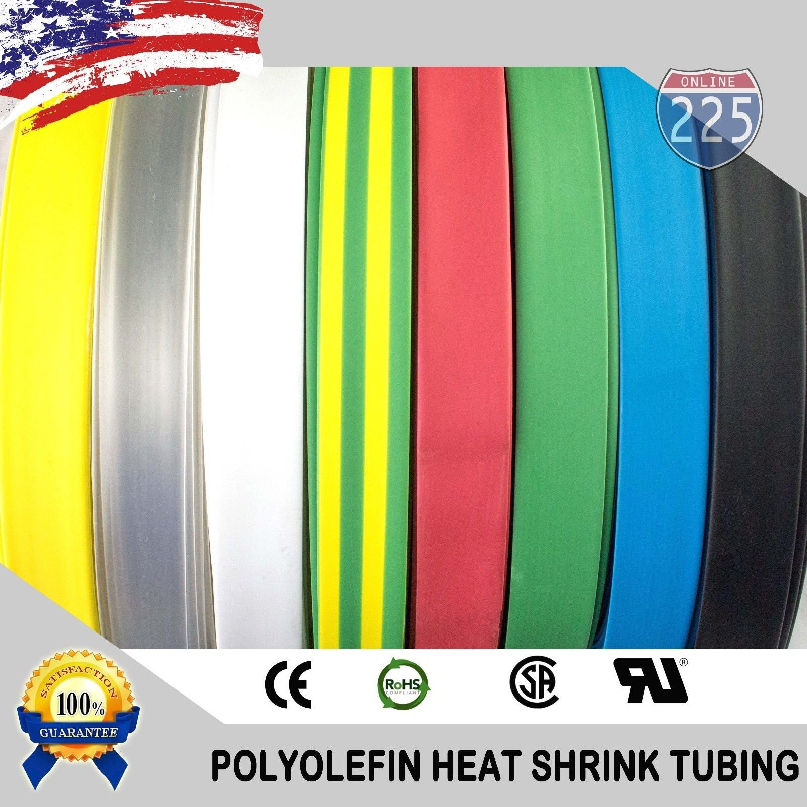 25 FT 3/4'' 19mm Polyolefin Clear Heat Shrink Tubing 2:1 Ratio by 225FWY (Image #2)