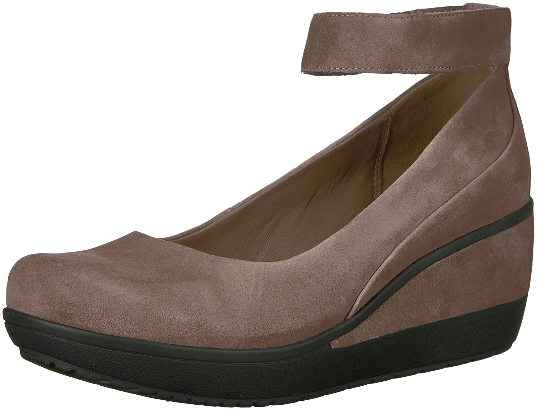 CLARKS Women's Wynnmere Fox Ankle Wedge Pump B01N2W8XOF 11 W US|Pebble Suede