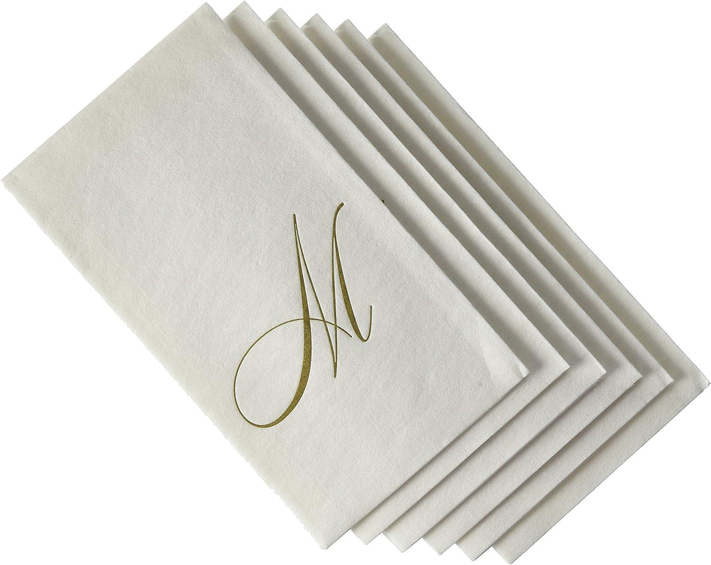 100 Personalized Guest Towels Dinner Napkins Paper Hostess Gift Monogram Laurel Wreath Leaf Bridal Shower Wedding Anniversary Custom Printed
