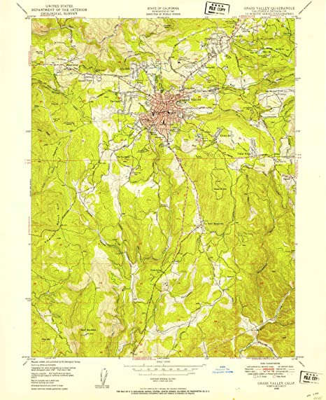 Amazon.com : YellowMaps Grass Valley CA topo map, 1:24000 ...