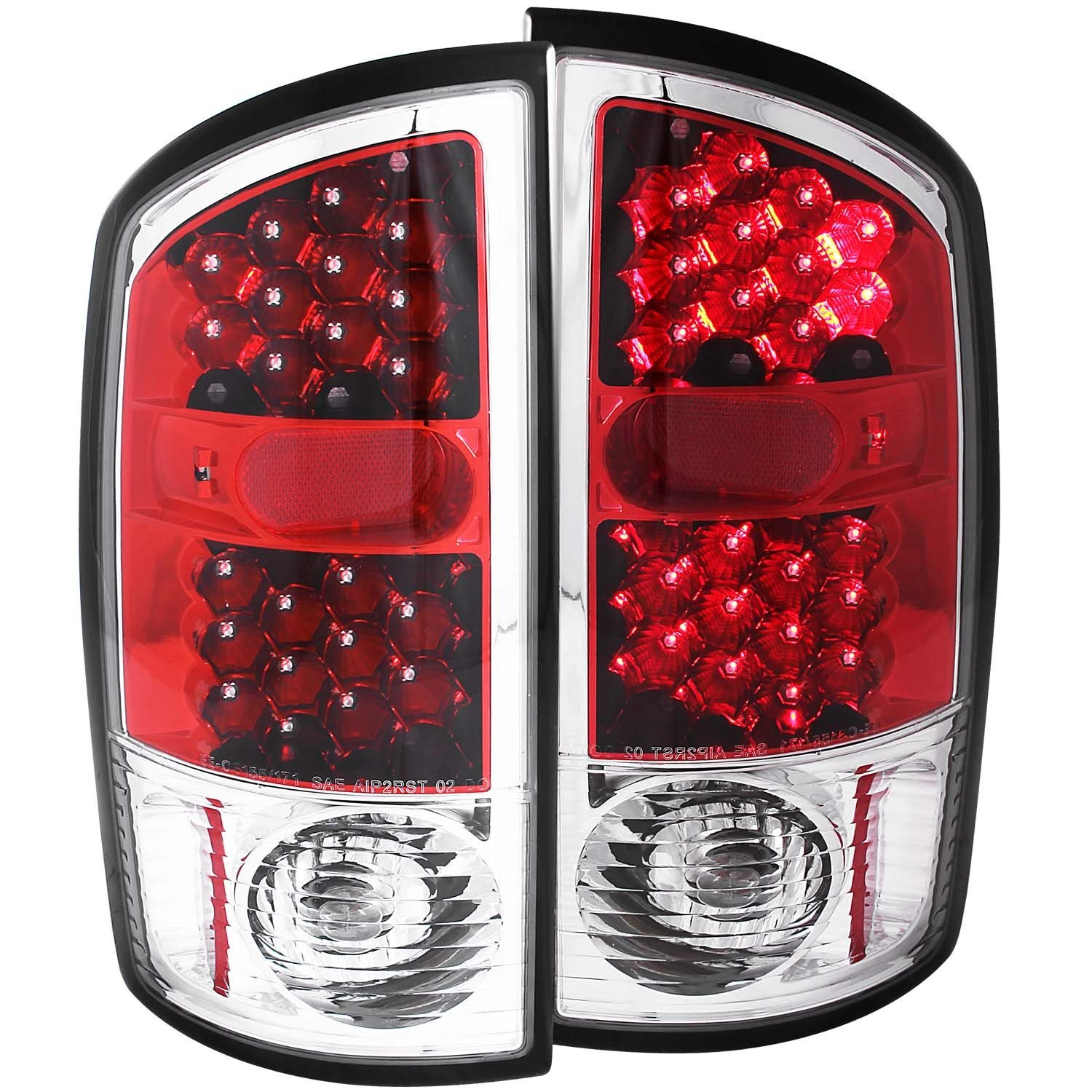 Amazon.com: Anzo USA 311133 Dodge Ram Red/Clear LED Tail Light Assembly -  (Sold in Pairs): Automotive