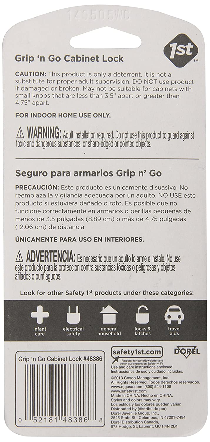 Amazon.com : Safety 1st 2 Pack Grip n' Go Cabinet Lock : Home ...