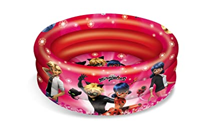 Lady Bug Miraculous- Piscina Hinchable 3 Anillos, Multicolor, 100 ...