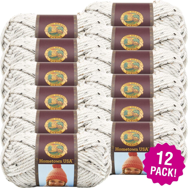 Lion Brand 99065 Hometown USA Yarn 12/Pk-Aspen Tweed, Pack