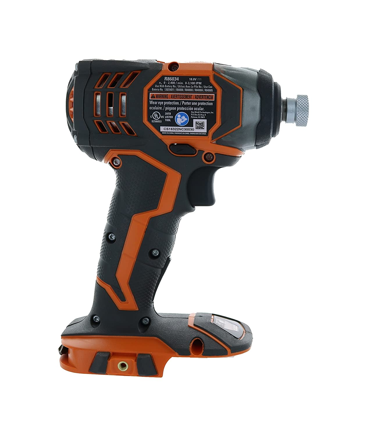 Ridgid R86034 X4 18V Lithium-Ion Impact Driver Forward Reverse Button