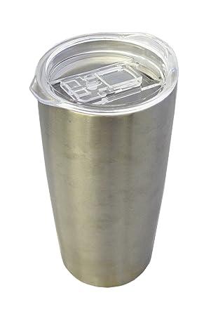 Zap Impex – Vasos de Acero Inoxidable, Aislamiento de Doble Pared con Tapa Metal Cristal para Exterior de Viajar, Camping, sin BPA 680 ML